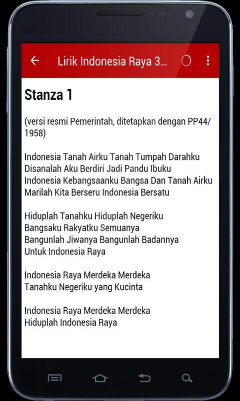 Indonesia Raya 3 Stanza Mp3 Fur Android Apk Herunterladen