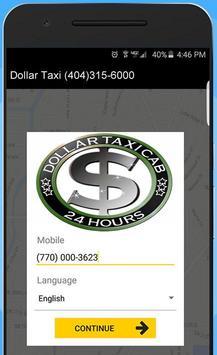 DOLLAR TAXI apk screenshot