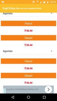 Fuel Like Petrol Diesel Price or Rate in India screenshot 1