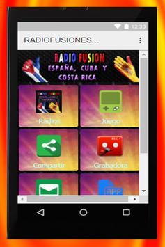 RADIO FUSION ESPAÑA, CUBA Y COSTA RICA screenshot 2