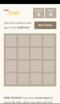 easy2048 screenshot 1
