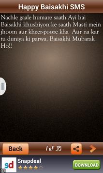 Happy Baisakhi SMS Wishes apk screenshot