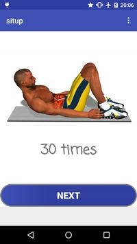 Six-pack abs workout poster