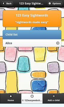 123 Easy Sightwords Free screenshot 2