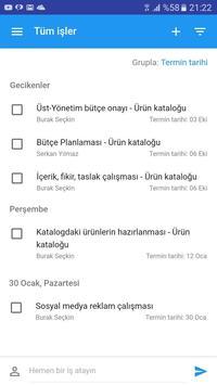 Easytask: İş, Süreç & Proje screenshot 1