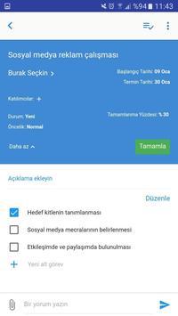 Easytask: İş, Süreç & Proje screenshot 2