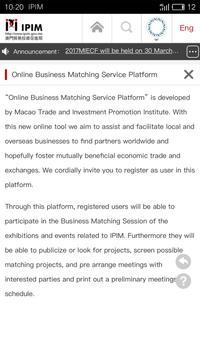 IPIM Business Matching apk screenshot