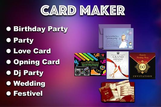 Invitation Maker apk screenshot