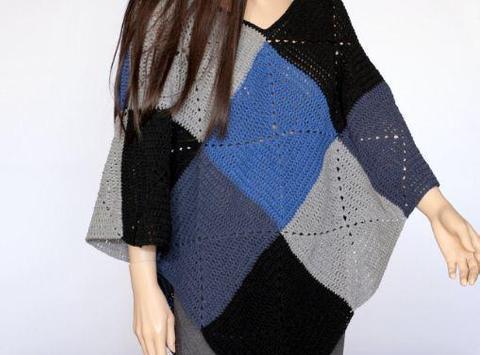 easy crochet poncho patterns screenshot 5