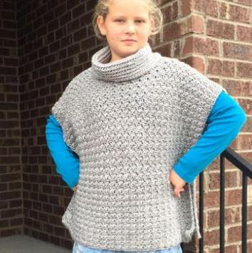 easy crochet poncho patterns poster