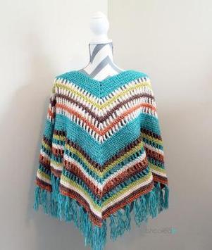 easy crochet poncho patterns screenshot 2