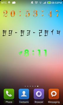 Decor Digital Clock poster