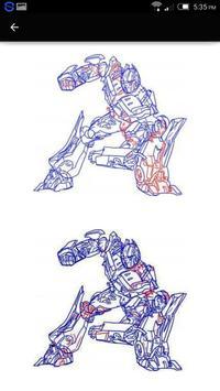 Easy Drawing Transformers apk screenshot