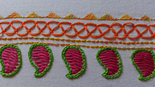 Easy hand embroidery tutorial poster