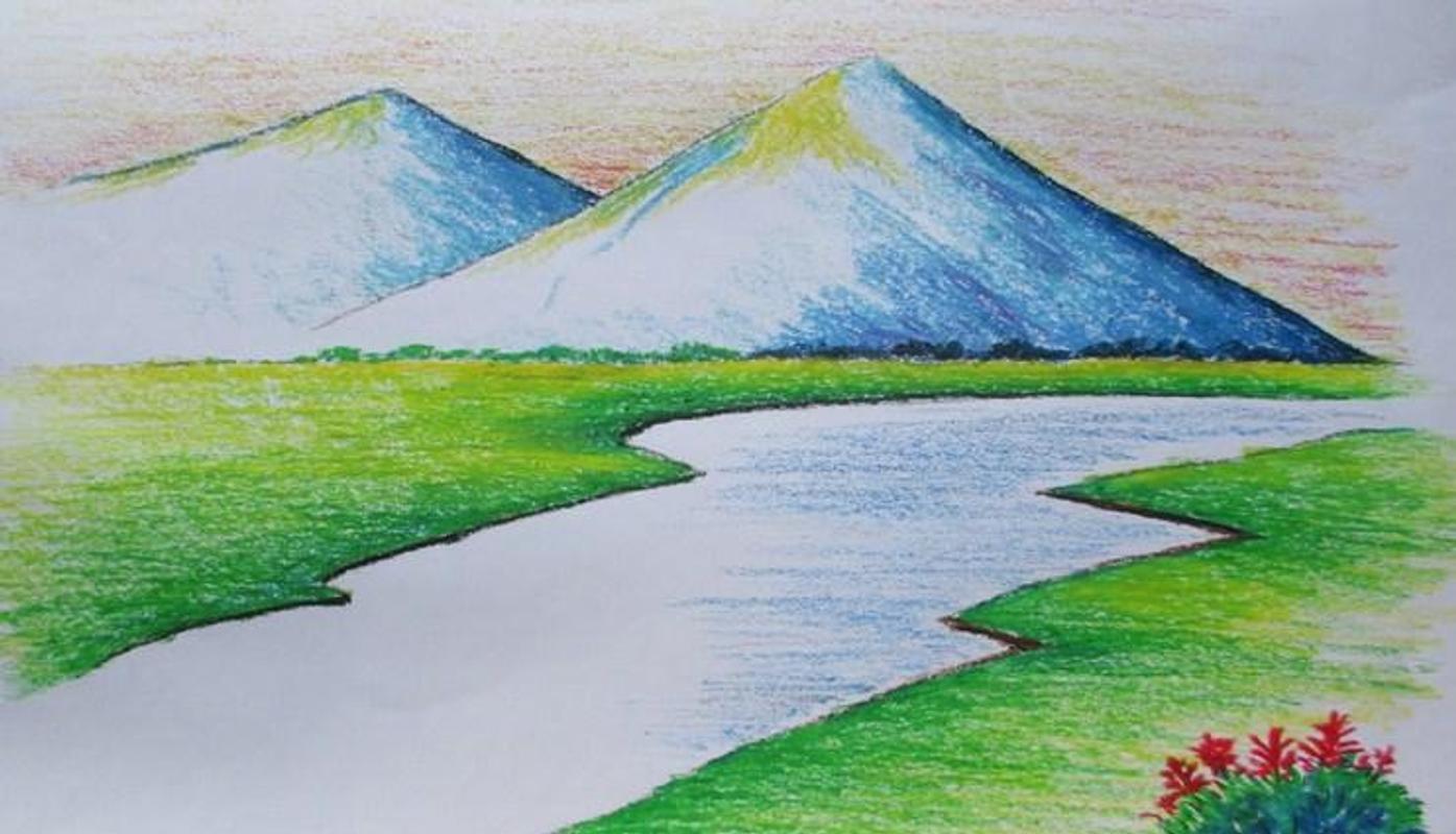 Easy landscape drawing affiche easy landscape drawing capture décran 1