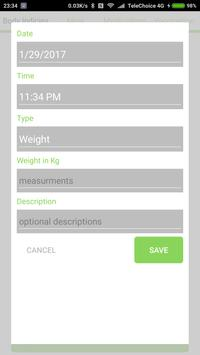 Baby Health Tracker apk screenshot