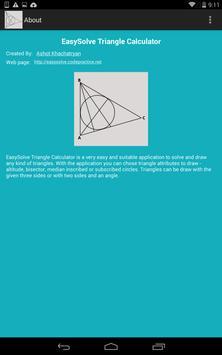 Triangle Calculator apk screenshot