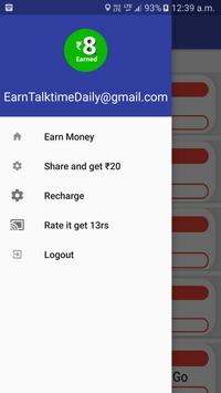 Earn Talktime-Daily (Free) apk screenshot