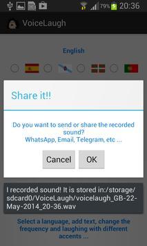 VoiceLaugh apk screenshot