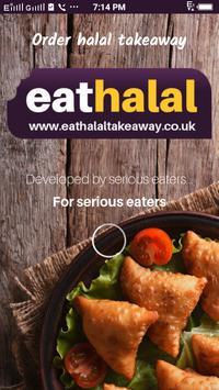 eat halal takeaway poster