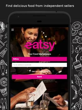 eatsy UK - local food delivery & takeaway poster