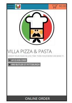 PIZZA & PASTA VILLA poster