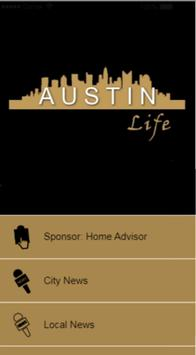 Austin Life - Connecting Your Community 24/7 poster