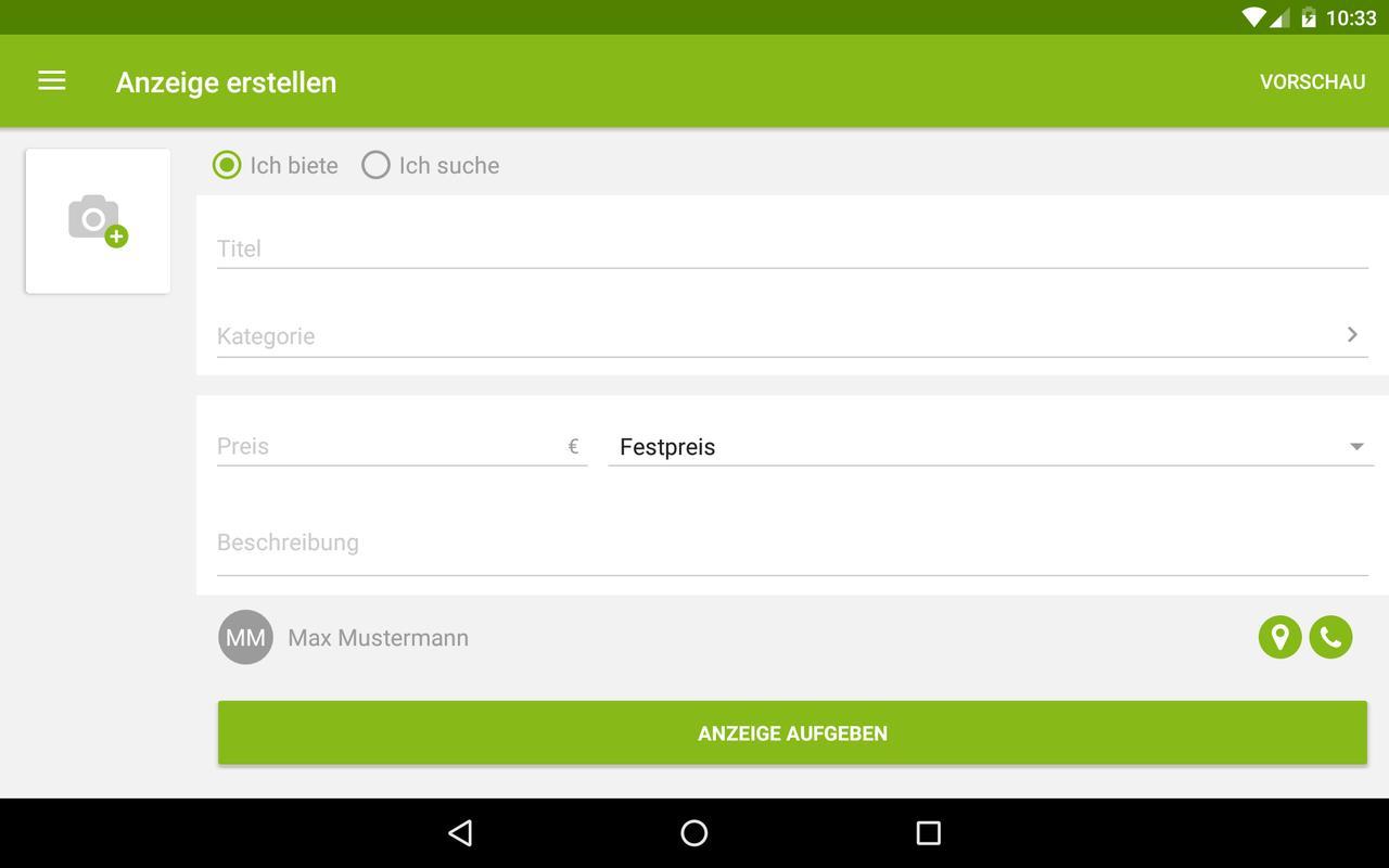 ebay kleinanzeigen for germany apk download free shopping app for android. Black Bedroom Furniture Sets. Home Design Ideas