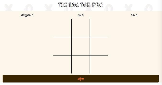 Tic Tac Toe Pro apk screenshot