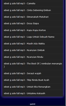 ebiet g ade full mp3 screenshot 2