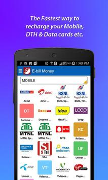 E-Bill Money - Mobile Recharge poster