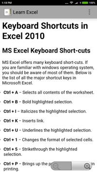 Learn Excel screenshot 1