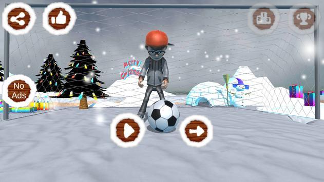Santa Goalkeeper poster