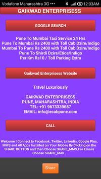 Pune Cab poster
