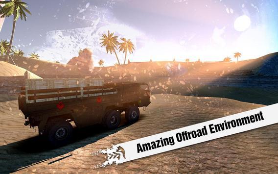 Off Road Cargo Transporter Truck Driver 3D poster
