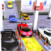 Sports Car Parking 3D & Luxury Car Driving Test icon