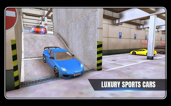 Sports Car Parking 3D & Luxury Car Driving Test poster