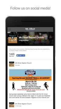 Mt. Olivet Baptist Church App apk screenshot