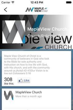 Maple View Church of Christ apk screenshot
