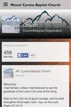 Mt. Cyrene Baptist Church poster