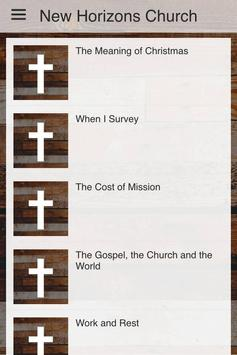 New Horizons Church poster