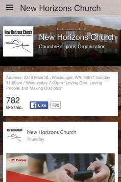 New Horizons Church apk screenshot