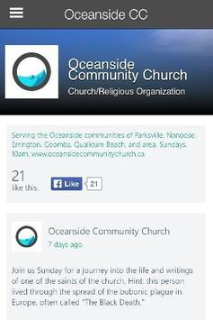 Oceanside Community Church poster