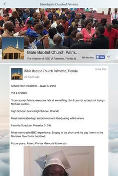 Bible Baptist - Palmetto screenshot 1