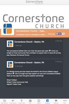 Cornerstone Church - PA apk screenshot