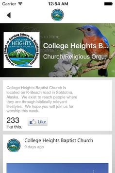 College Heights Baptist Church apk screenshot