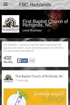 First Baptist Church Richlands apk screenshot