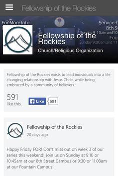 Fellowship of the Rockies apk screenshot