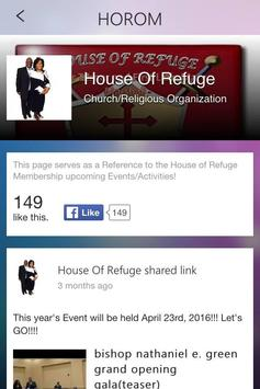 House of Refuge echurch poster