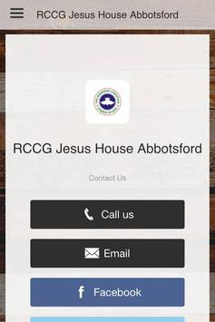 RCCG Jesus House Abbotsford poster